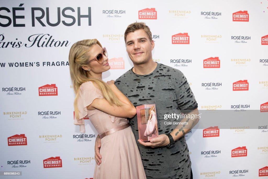 Paris Hilton Launches Rosé Rush Fragrance in Australia: An Alternative View : News Photo