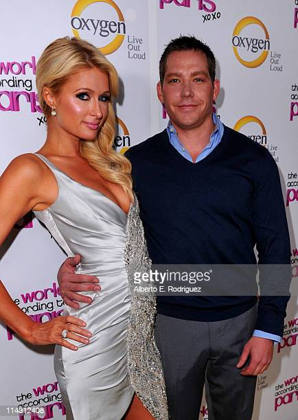 Paris Hilton and boyfriend Cy Waits arrive at premiere of Oxygen's New DocuSeries The World According To Paris at Tropicana Bar at The Hollywood...