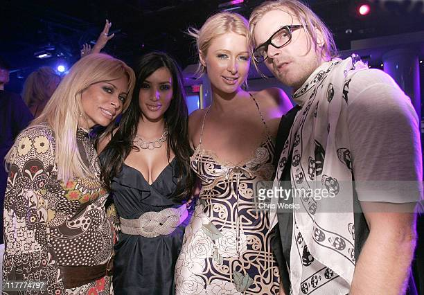 Paris Hilton and Chad Muska during Paris Hilton CD Release Party at Pure Nightclub - Inside at Pure Nightclub in Las Vegas, Nevada, United States.