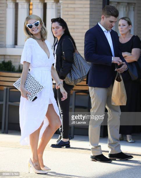 Paris Hilton and Chris Zylka are seen on May 09 2018 in Los Angeles California