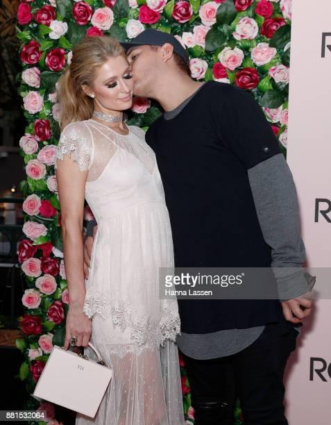 Paris Hilton and Chris Zylka arrive at Rose Rush Party Sydney on November 29 2017 in Sydney Australia