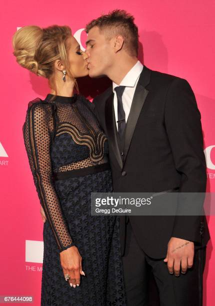 Paris Hilton and Chris Zylka arrive at the MOCA Gala 2017 at The Geffen Contemporary at MOCA on April 29 2017 in Los Angeles California