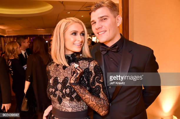 Paris Hilton and Chris Zylka attend HBO's Official 2018 Golden Globe Awards After Party on January 7 2018 in Los Angeles California