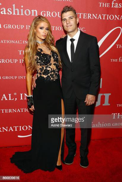 Paris Hilton and Chris Zylka attend the 2017 FGI Night Of Stars Modern Voices gala at Cipriani Wall Street on October 26 2017 in New York City