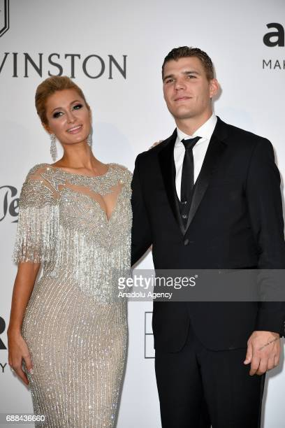Paris Hilton and Chris Zylka attend the Amfar Gala Cannes 2017 at Hotel du CapEdenRoc on May 25 2017 in Cap d'Antibes France on May 25 2017