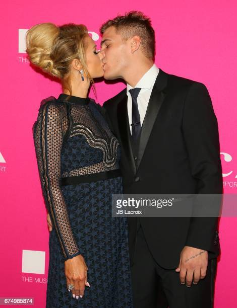 Paris Hilton and Chris Zylka attend the MOCA Gala 2017 on April 29 2017 in Los Angeles California