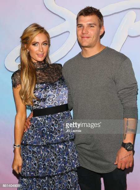 Paris Hilton and Chris Zylka attend the premiere of Alex Israel's 'SPF18' on September 21 2017 in Los Angeles California