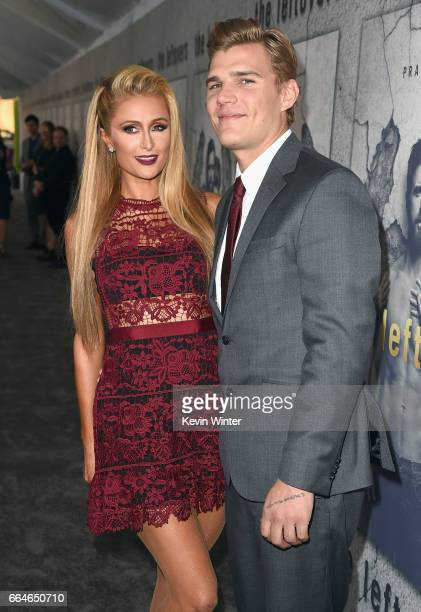 Paris Hilton and Chris Zylka attend the premiere of HBO's The Leftovers Season 3 at Avalon Hollywood on April 4 2017 in Los Angeles California