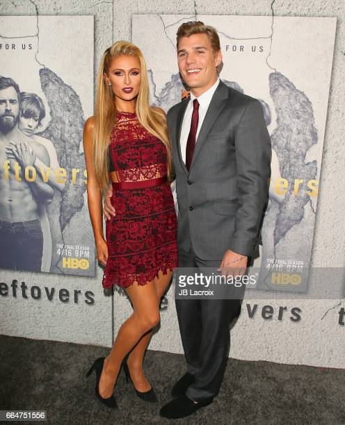 Paris Hilton and Chris Zylka attend the premiere of HBO's 'The Leftovers' Season 3 at Avalon Hollywood on April 4 2017 in Los Angeles California