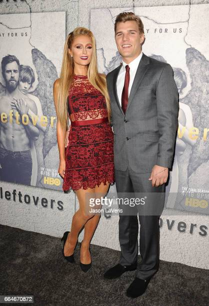 Paris Hilton and Chris Zylka attend the season 3 premiere of The Leftovers at Avalon Hollywood on April 4 2017 in Los Angeles California