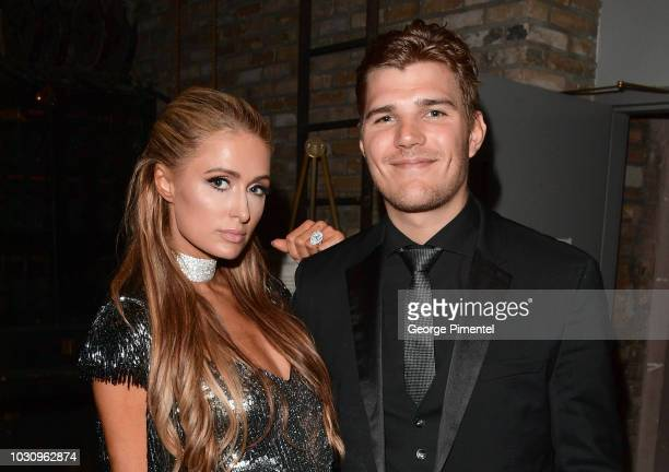 Paris Hilton and Chris Zylka attend the The Death And Life Of John F Donovan premiere during 2018 Toronto International Film Festival at Winter...