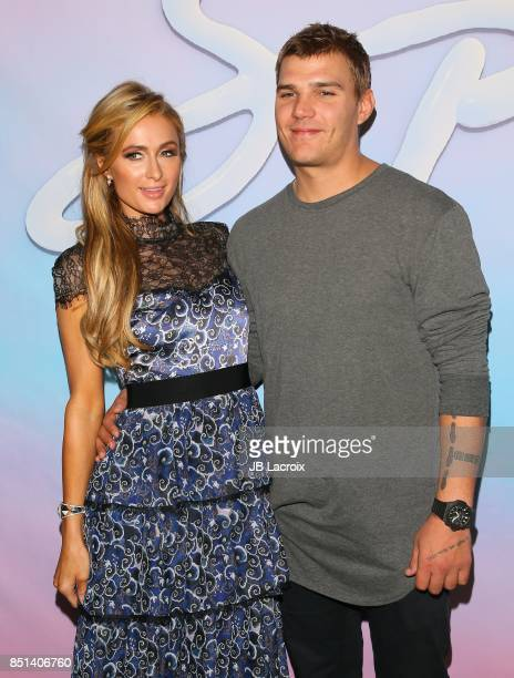 Paris Hilton and Chris Zylka attends the premiere of Alex Israel's 'SPF18' on September 21 2017 in Los Angeles California