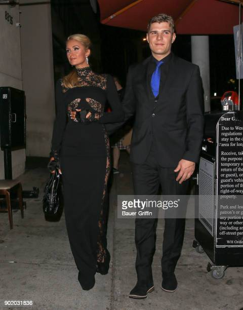 Paris Hilton and Chris Zylka out and about on January 06 2018 in Los Angeles California