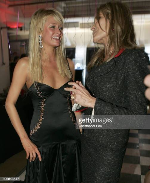 Paris Hilton and Christine Peters during Launch Party For New Book Fashionistas hosted by producer Christine Peters at The Fenix Resturant The Argyle...