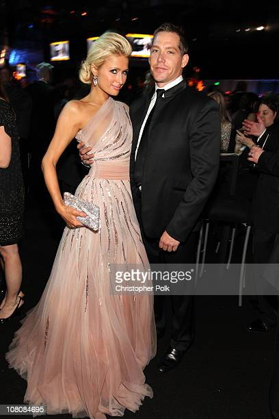 Paris Hilton and Cy Waits attend NBCUniversal/Focus Features Golden Globes Viewing and After Party sponsored by Chrysler held at The Beverly Hilton...