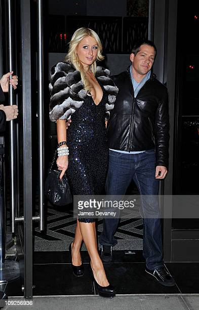 Paris Hilton and Cy Waits seen on the streets of Manhattan on February 17 2011 in New York City