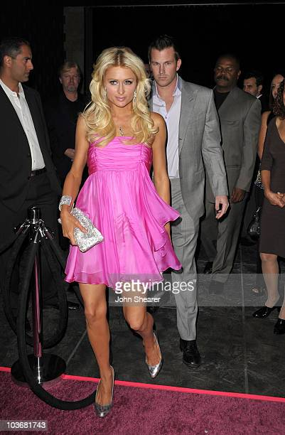 Paris Hilton and Doug Reinhardt arrive to the Launch Party For The Paris Hilton Hair And Beauty Line at Thompson Hotel on November 17 2009 in Beverly...