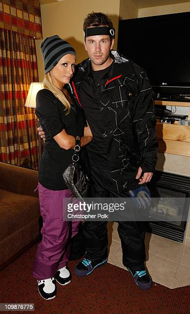 Paris Hilton and Doug Reinhardt attend Oakley Learn To Ride Snowboard fueled by Muscle Milk at Oakley Lodge on January 23 2010 in Park City Utah