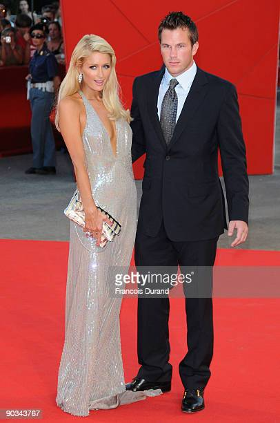 Paris Hilton and Doug Reinhardt attend the 'Bad Lieutenant Port Of Call New Orleans' premiere at the Sala Grande during the 66th Venice Film Festival...