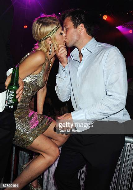 Paris Hilton and Doug Reinherdt attend the party hosted by Paris Hilton to celebrate her week during the 62nd International Cannes Film Festival at...
