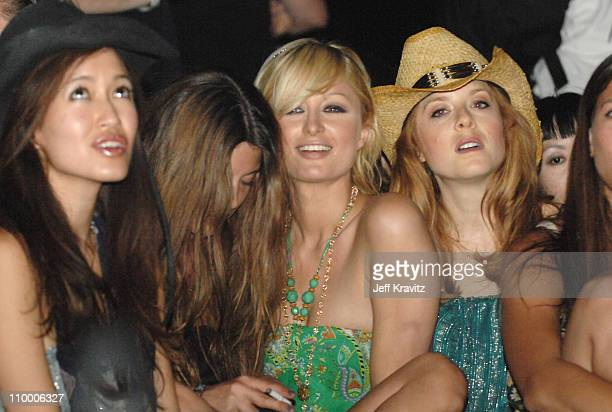 Paris Hilton and Guests during Coachella Valley Music and Arts Festival Day 3 Sightings at Empire Polo Field in Indio California United States