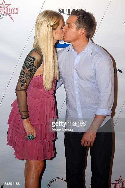 Paris Hilton and her boyfriend Cy Waits attend a photocall for on June 5 2011 in Barcelona Spain