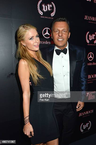 Paris Hilton and Jean Roch Pedri attend the VIP Room JW Marriott Opening Party at the 67th Annual Cannes Film Festival on May 14 2014 in Cannes France