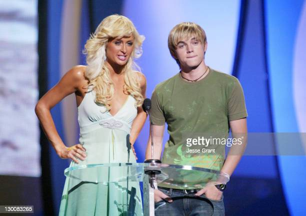 Paris Hilton and Jesse McCartney during The 2004 Teen Choice Awards Show at Universal Amphitheatre in Universal City California United States