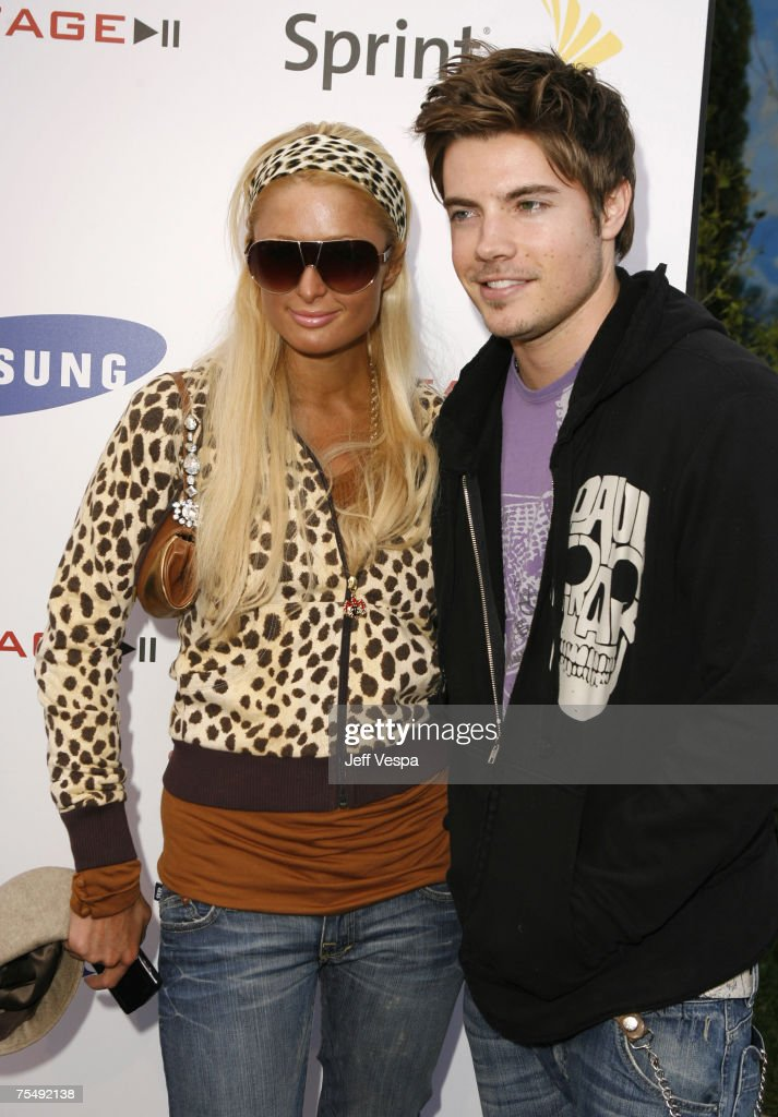Paris Hilton and Josh Henderson at the Private Residence in Beverly Hills, California