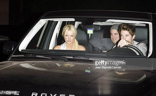 Paris Hilton and Josh Henderson during Paris Hilton Josh Henderson and Kim Kardashian Depart Area Nigthclub April 10 2007 at Area Nigthclub in West...