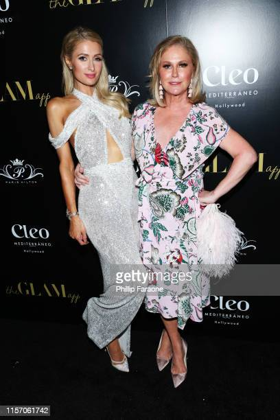 Paris Hilton and Kathy Hilton attend The Glam App Celebration Event at Cleo on June 19, 2019 in Hollywood, California.