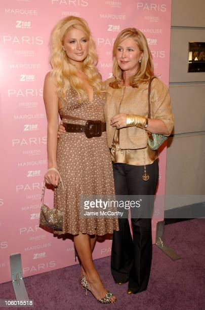 Paris Hilton and Kathy Hilton during Paris Hilton Record Signing - After Party - Arrivals at Marquee in New York City, New York, United States.