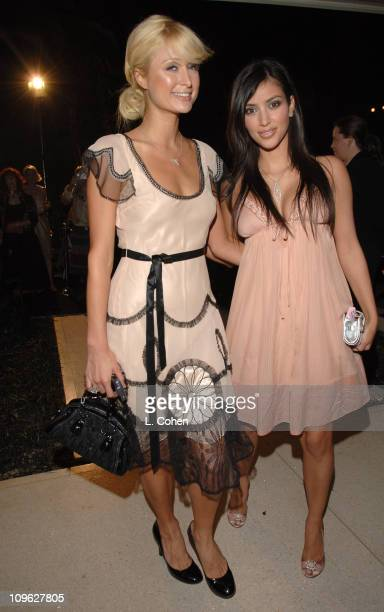 Paris Hilton and Kim Kardashian during Dom Perignon Karl Lagerfeld and Eva Herzigova Host an International Launch Event to Unveil the New Image of...