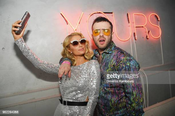 Paris Hilton and Kirill Bichustky attend the 2018 Tribeca Film Festival World Premiere of Bert Marcus' THE AMERICAN MEME on April 27 2018 at Spring...