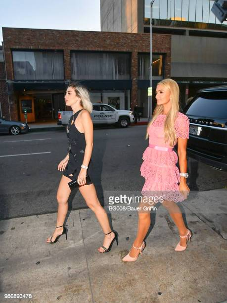 Paris Hilton and Megan Pormer are seen on June 28 2018 in Los Angeles California