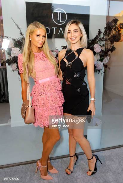 Paris Hilton and Megan Pormer attend the TOTALEE launch at TOTALEE on the Alley on June 28 2018 in Beverly Hills California
