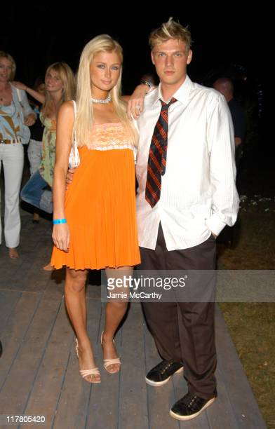 Paris Hilton and Nick Carter at the PS2 Estate during PS2 Estate Day Two Launch Party For Jay Z's New S Carter Tennis Shoe in Bridgehampton New York...