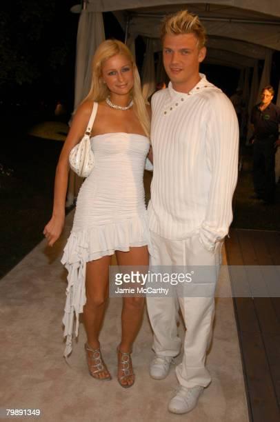 Paris Hilton and Nick Carter at the PS2 Estate