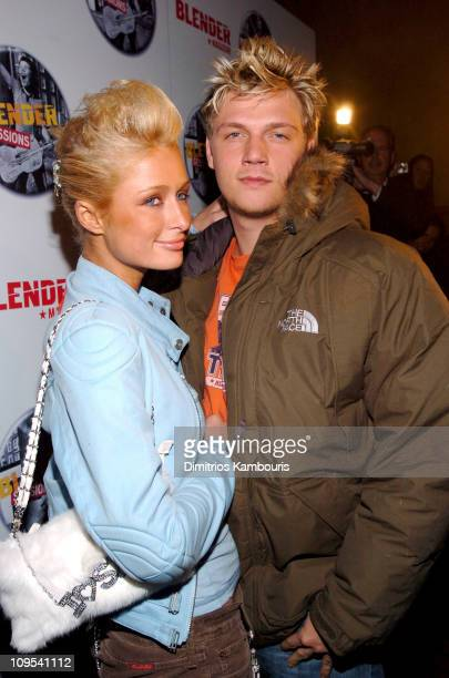 Paris Hilton and Nick Carter during 2004 Park City Blender Sessions Trampoline Showcase Featuring Pete Yorn and Special Guest Minnie Driver at Harry...