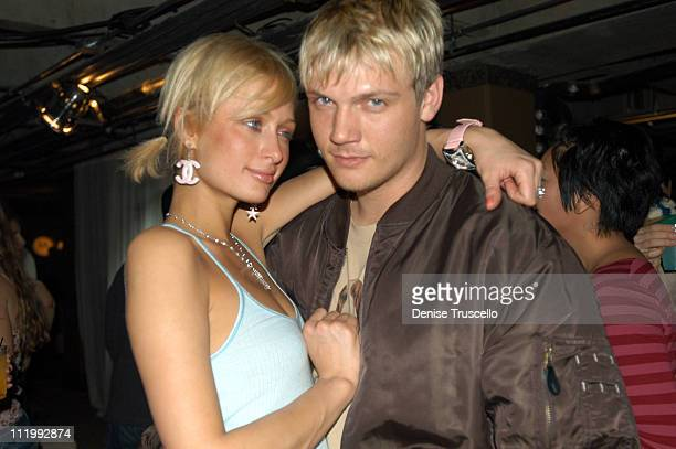 Paris Hilton and Nick Carter during 2004 Park City Xbox Hosts Pandora's Tomorrow Party at the Motorola Lodge at Motorola Lodge in Park City Utah...