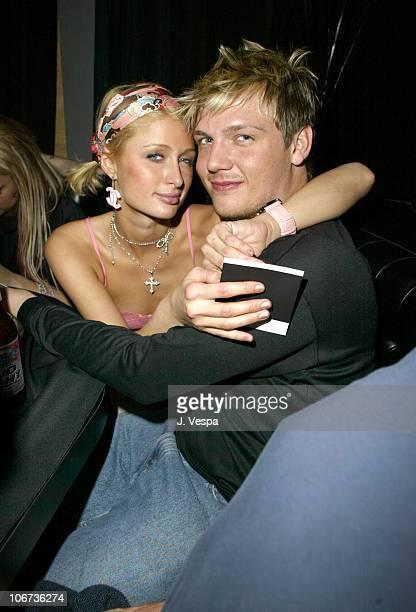 Paris Hilton and Nick Carter during 2004 Sundance Film Festival DETAILS Sean John for William Morris Independent Party at The Shop in Park City Utah...