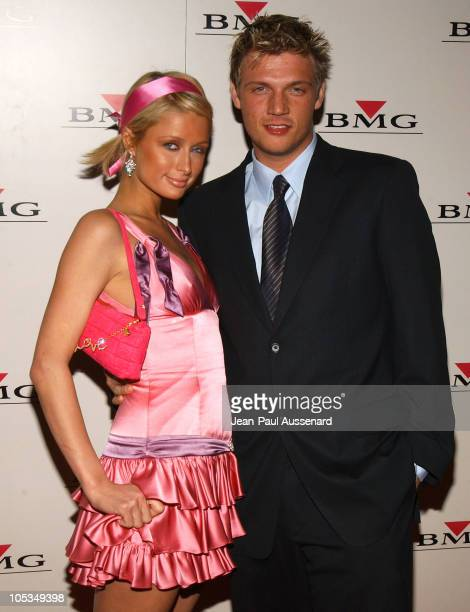 Paris Hilton and Nick Carter during BMG After GRAMMY Party Arrivals at Avalon in Hollywood California United States