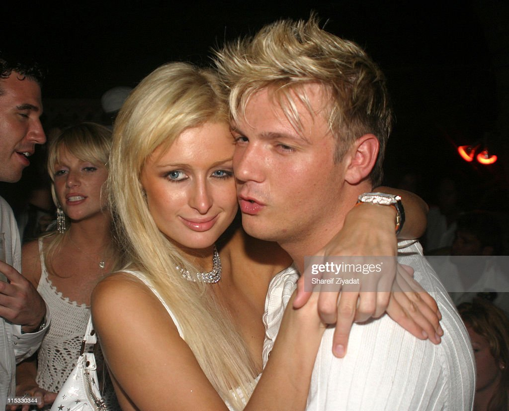 Paris Hilton and Nick Carter during PS2 Estate Day 3 - 6th Annual P. Diddy White Party at PS2 Estate in Bridgehampton, New York, United States.