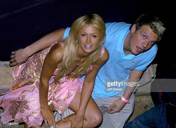 Paris Hilton and Nick Carter during The Simple Life 2 Welcome Home Party at The Spider Club in Hollywood CA United States