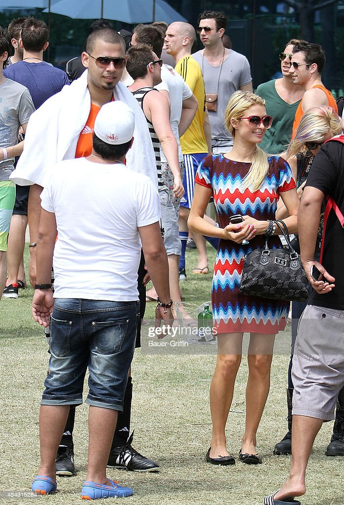 Nick Van De Wall.Paris Hilton And Nick Van De Wall Aka Afrojack Are Seen On