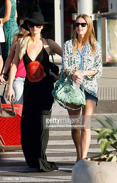 Paris Hilton And Nicky Hilton are seen at the Ibiza Airport on August 06 2011 in Ibiza Spain