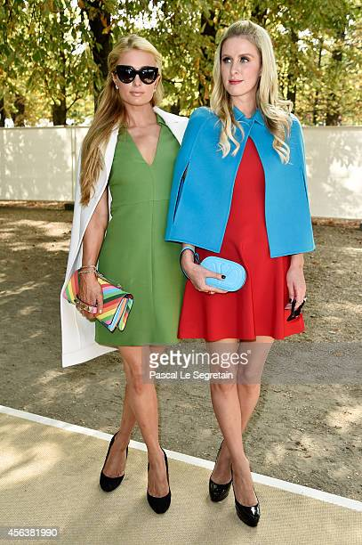 Paris Hilton and Nicky Hilton arrive at the Valentino show as part of the Paris Fashion Week Womenswear Spring/Summer 2015 on September 30 2014 in...