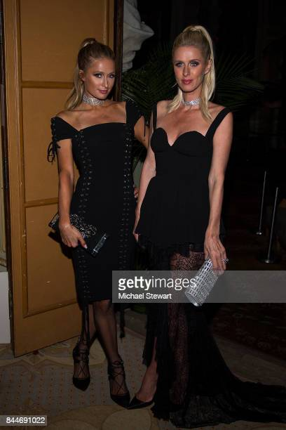Paris Hilton and Nicky Hilton attend 2017 Harper's Bazaar Icons at The Plaza Hotel on September 8 2017 in New York City