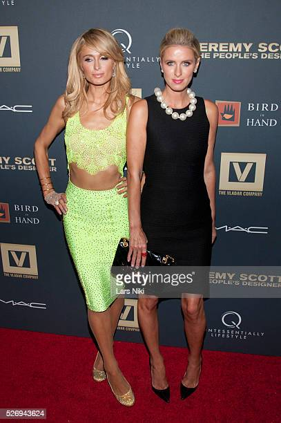 Paris Hilton and Nicky Hilton attend Jeremy Scott The' People's Designer New York premiere at the Paris Theatre in New York City �� LAN