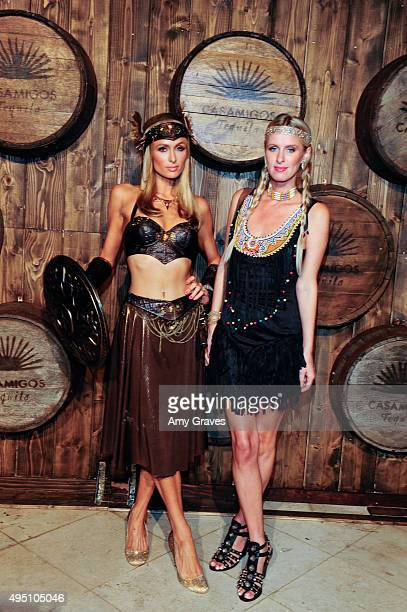 Paris Hilton and Nicky Hilton attend the Casamigos Tequila Halloween Party Brought to you by Those Who Drink It at a private residence on October 30,...